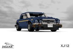 Jaguar XJ12 (XJ40 - 1993) (lego911) Tags: auto uk england car sedan model lego britain render 1993 gb british jaguar saloon luxury 1990s cad sovereign povray v12 xj12 moc ldd xj40 miniland lego911