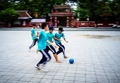 _DSF2928 (Copy) (travelstreetmodel) Tags: england fun football movement southeastasia exercise soccer running vietnam laughter hue dribble gbr fujix100