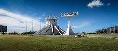 Panorama of the Cathedral of Braslia (Frans Harren) Tags: blue brazil panorama building green church grass braslia architecture geotagged bell bra distritofederal oscarniemeyer esplanadadosministerios geo:country=brazil geo:state=distritofederal exif:aperture=40 exif:isospeed=80 geo:lat=1579731051 geo:lon=4787571410 geo:lat=15797310516667 geo:lon=478757141 geo:location=esplanadadosministerios geo:city=braslia
