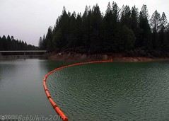 4' in one week (Vurnman) Tags: california orange lake storm rain norcal pontoons spillway nevadacounty scottsflat scottsflatlake cascadeshores floatingbarrier