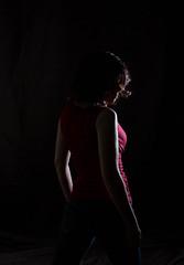 228/365 - Rim Light Selfie (kate.millerwilson) Tags: portrait woman selfportrait rimlight