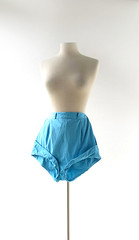 1950s high waisted turquoise blue cotton cuffed shorts (Small Earth Vintage) Tags: cotton 1950s shorts 50s shortshorts cuffed vintageclothing vintagefashion womensfashion turquoiseblue highwaistshorts smallearthvintage