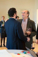 Olivier and and Jean-Claude Berrouet at Petrus (gjwilmoth) Tags: petrus olivier jeanclaude 2015 pomerol berrouet bdx15