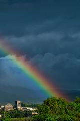 where colors born (brucexxit) Tags: storm rain clouds rainbow viterbo tuscia laquercia altolazio