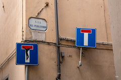 Dead End (magnusbjorns) Tags: italy streetart sign graffiti florence it tuscany firenze streetsigns toscana crucifixion deadend streetartphotography graffitiphotography