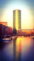 Westhafentower (Nihil Baxter007) Tags: haven west tower river office harbour frankfurt main hafen fluss turm bro spiegelung glas westhafen geripptes