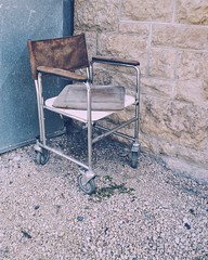 Antique Retro Old Abandoned & Derelict Wheelchair Unsettling Out With The Trash Discarded (Shannon F Gorman) Tags: old antique wheelchair retro discarded unsettling abandonedderelict outwiththetrash