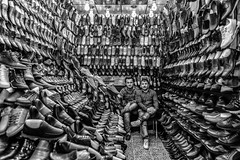 Shoes Shop (Saman A. Ali) Tags: people shop blackwhite shoes market streetphotography kurdistan slemani