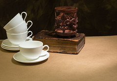 Cup and Saucer (Travis Photo Works) Tags: above white hot cup coffee breakfast bar vintage ceramic table wooden cafe view tea drink top background object empty beverage bistro single mug espresso teacup coffe porcelain isolated saucer cofee