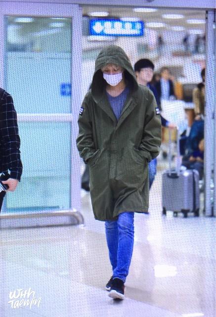 160427 Taemin @ Aeropuerto Gimpo {Llegada a Corea} 26128229823_27d229a0a9_z