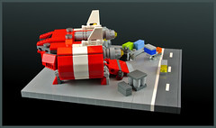 Loading containers (FonsoSac) Tags: ship lego moc starport microscale