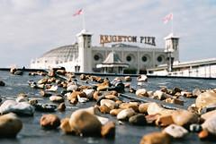 Shingle, Brighton. (Sean Hartwell Photography) Tags: england colour film beach 35mm sussex pier seaside brighton grain shingle fujifilm british palacepier canoneos300 fujicoloursuperiaxtra400
