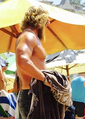IMG_1250 (danimaniacs) Tags: shirtless hairy man hot sexy guy beach pecs beard muscle muscular beefy stud scruff