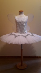 Ballet fairy tutu (mongyandweasel) Tags: ballet white net up silver dance costume wings crystals wake silk fairy corset classical bodice applique tutu brocade