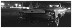 1958 Imperial Crown Coupe (daveelmore) Tags: bw panorama car blackwhite automobile 1958 imperial vehicle chrysler stitchedpanorama imperialcrowncoupe lumixleicadgsummilux25mm114