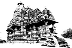 India - Madhya Pradesh - Khajuraho - Temple - 261d (asienman) Tags: india khajuraho madhyapradesh khajurahogroupofmonuments asienmanphotography asienmanphotoart