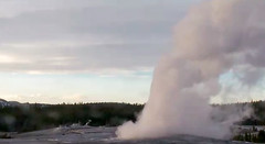 Old Faithful Geyser eruption (7:34-7:38 PM, 9 April 2016) 1 (James St. John) Tags: old group basin upper yellowstone wyoming geyser eruptions erupt eruption erupting faithful erupts