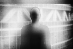Portrait of someone (Khuroshvili Ilya) Tags: portrait people bw man face silhouette facade ofice