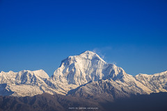 DHAULAGIRI MOUNTAIN PEAK (::: a j z p h o t o g r a p h y :::) Tags: morning travel nepal mountain snow tourism landscape bluesky snowcapped mountainrange snowmountain dhaulagiri