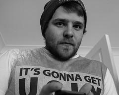 scary dude (pamelaadam) Tags: bw digital friend fotolog stephen liecester thebiggestgroup engerlandshire godbrat