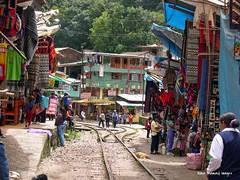 Market Place at Agua Calientes, near Machu Picchu, Urubamba Province, Peru (Black Diamond Images) Tags: peru southamerica train market per machupicchu urubambariver amricadosul riourubamba aguacalientes amriquedusud perurail zuidamerika sudamrica republicofperu repblicadelper urubambaprovince