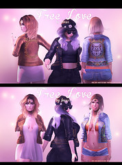 Foxes @ Uber - Free Love Jackets (Dani @ Birdy/Foxes/Alchemy) Tags: leather fashion festival country sl event jacket secondlife denim boho foxes stud uber zbrush maitreya