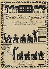 Wieteke van Dort, Uit de school geklapt, 1982, cover (janwillemsen) Tags: silhouette bookcover 1962 wietekevandort