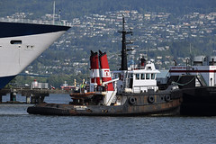 Tugboat Cindy Mozell Refuel (drmack2) Tags: vancouver bc harbour inlet burrard pusher workboat