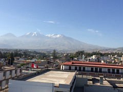 Chachani Volcano from top of Church in Arequipa (Craigs Travels) Tags: panorama peru volcano panoramic arequipa chachani
