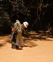Fishing (Singgai) Tags: net creek river fishing fisherman stream sarawak borneo baram longseridan pamagoh