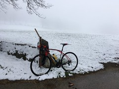 Great First Day Of May (collideous) Tags: road viaje snow bike spring ride volagi 01052016