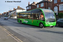 501, Carlton Hill, 13/1/16 (hurricanemk2c) Tags: nottingham bus buses trent unusual rare 501 carltonhill 2016 optare trentbarton wellglade optaresolosr optaresolom970 yd63vdl rushcliffevillager
