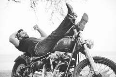 Biker Dan (destinyLame) Tags: blackandwhite bw dan motorbike motorcycle biker hotguy destinylane