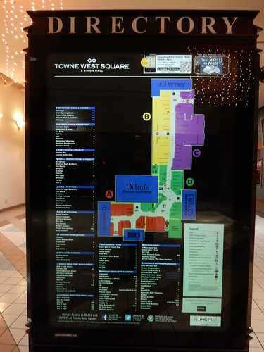 West Towne Mall Map Towne West Square Mall Directory   Wichta, Kansas   a photo on  West Towne Mall Map