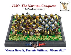 Harold and his Hard-Fighting Hard-Heads (Gary^The^Procrastinator) Tags: england english history army lego military medieval historical minifigs 1066 battleofhastings battleaxe anglosaxons normanconquest historylug