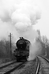 NVR 34403bw (kgvuk) Tags: trains locomotive railways 440 steamtrain steamlocomotive morayshire nvr nenevalleyrailway ortonmere d49 62712