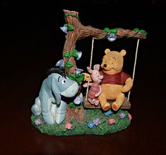 A Pooh a day ! - Day # 12 (In Memory of ColGould) Tags: bear swing pooh winniethepooh piglet winnie eeyore aamilne