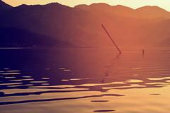 Naufragio de Luz (Gure Elia) Tags: orange lake water landscape lago naranja holydays goldenhour montenegro skadarskojezero goldentones canoneos550d