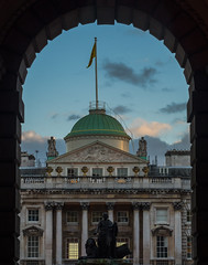 Somerset House (Strand) (Olympus OMD EM5II & mZuiko 40-150mm F2.8 Pro Zoom) (markdbaynham) Tags: street city urban london zoom capital evil olympus pro metropolis f28 omd csc oly mz londoner londonist m43 zd mft 40150mm mirrorless micro43 microfourthirds micro43rd mzuiko m43rd em5ii
