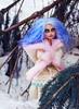 The snow Queen (tehhishek) Tags: blue winter snow cold tree monster high model ooak queen custom britt mattel the bloodgood headmistress dahal