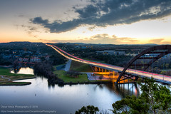 008/365.2016 Pennybacker Bridge (OscarAmos) Tags: sunset water architecture austin landscape texas availablelight hdr lightroom ndfilter 18200mm photomatix tonemapped detailenhancer topazadjust project3652016 nikond7200