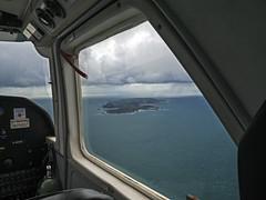 Arriving at Alderney during rain. (neilalderney123) Tags: rain clouds plane airplane aeroplane alderney trislander 2016neilhoward