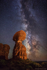 "Milky Way behind Balanced Rock (IronRodArt - Royce Bair (""Star Shooter"")) Tags: nightscape arches archesnationalpark nightscapes starrynight milkyway balancedrock starrynightsky"