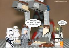 Last minute repairs (alby83) Tags: starwars lego stormtrooper guerrestellari