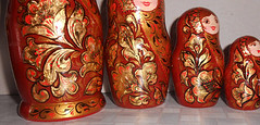 Russian Nesting dolls matryoshka in style khokhloma modern in handmade (Artworkshop1) Tags: handmade babushka matryoshka khokhloma