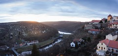 Panorama Znojmo (Dominik Chalupnk) Tags: sunset panorama sun nature canon town hometown pano tourist valley 1750 tamron lightroom znojmo photosho 600d