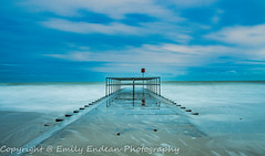 #168 of 365 - Long exposure - 300116 (Emily_Endean_Photography) Tags: longexposure winter sea seascape art beach water architecture mono coast seaside colours january dorset groyne bournemouth boscombe jurassiccoast