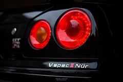 Tail light detail. (God_speed) Tags: light black detail sports skyline japanese lights nissan tail led pearl supercar jdm gtr nismo nur nurburgring vspec gv1 vspec2 vspec2nur