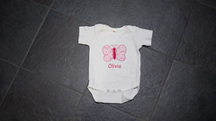 """butterfly"" onesie (jamieraeboutique) Tags: baby clothing unique gift embroidered babyshower personalized onesie jamieraeboutique"