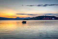 Ship Wreck in Narvik (Jan-Roger Olsen) Tags: ocean sunset mountain seascape nature norway clouds sunrise boat norge outdoor no natur ds july naturallight juli wreckage hdr båt narvik skyer midnightsun fjell hav bockenheim midnattsol 2014 nordland ofotfjorden 2014july sensetsunrise